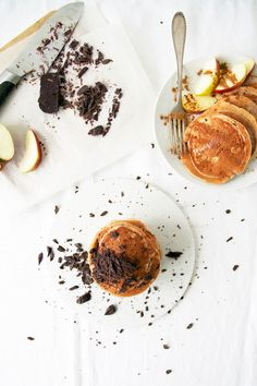 ... buckwheat pancakes with maple syrup & chocolate ( dairy, refined sugar gluten free) ...