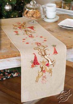 Table Runner - Jumping Reindeers