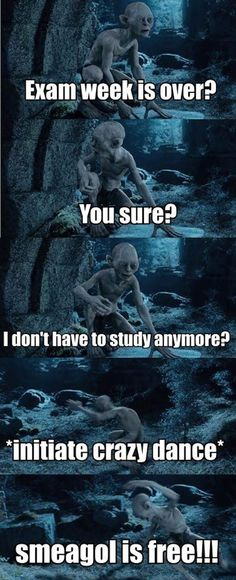 Funny pictures about Finally exam week is over. Oh, and cool pics about Finally exam week is over. Also, Finally exam week is over. Legolas, Gandalf, Tauriel, Funny Quotes, Funny Memes, Hilarious, It's Over Now, O Hobbit, J. R. R. Tolkien