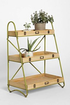 Tiered Ladder Shelf... I kind of want one to use for a little garden.