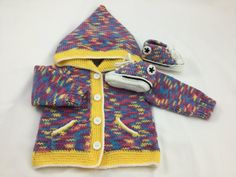 Knitted Baby Converse Style Hoodie & Booties in by BabyJaneKnits