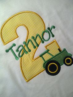 John Deere birthday shirt for Gunz 2nd bday. lol i am too much of a planner
