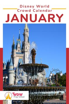 Planning to visit Disney World in January? Check out our FREE January Crowd Calendar for help finding the least crowded parks for each day of your trip. Disney Crowds, Disney Trips, Disney Parks, Walt Disney World, Disney World Crowd Calendar, Disney Planning, January, Magic, How To Plan