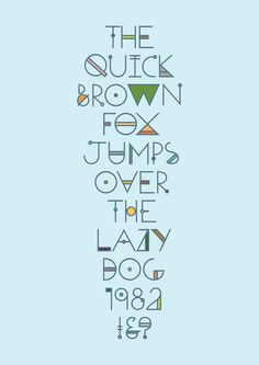 This font doesn't read as well if it doesn't have the colors. But still very cool on its own. Check the link to see other colors.