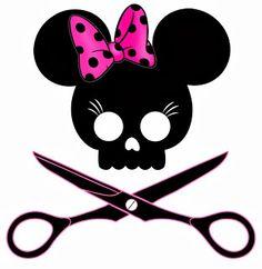 Originales cabezas de Mickey y Minnie para Halloween.