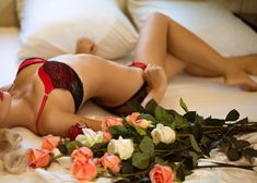 Sexy woman lying next to roses - escort and client role play scenario Role Play Couples, Role Play Scenarios, Preparing For Marriage, Sex And Love, Play Ideas, Hot, Relationship, Roses, Numb