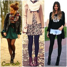 {combinação infalível} Vestido + Meia Calça + Bota