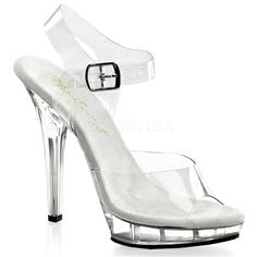 "Fitness Competition Heels - Womens All Clear 5"" High Heels Pageant Shoes Sandals"