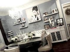 Modern chic dining room.