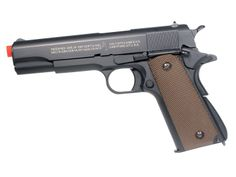 Amazon.com : Soft Air Colt 1911 Gas Powered Pistol, Black/Brown : Airsoft Pistols : Sports & Outdoors