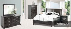 Purba Furniture, MacKenzie bedroom collection. Canadian made, available in your choice of stain and hardware.  See in store for pricing and all available options.
