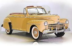 "1948 Ford Super Deluxe Club Convertible -- (my dream car, ""Duke"". I'd like it in Ben Moore Butterscotch)"