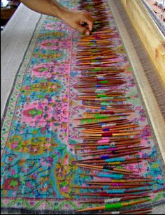 The art of weaving...Kani Pashmina