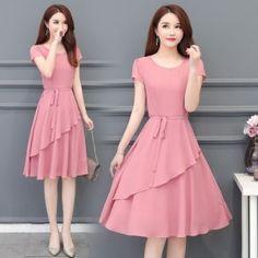 Frock Fashion, Pink Fashion, Fashion Dresses, Ladies Fashion, Women's Fashion, Elegant Dresses For Women, Casual Dresses, Short Dresses, Modest Maxi Dress