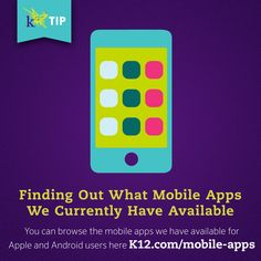 Have you checked out all of the mobile apps we have? There's something for all grade levels! http://www.k12.com/mobile-apps