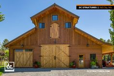 This Powell Monitor barn acts as a home business for this Washington State family. With a huge workshop downstairs and ample storage upstairs, this kit makes for a perfect workspace!