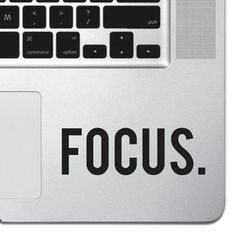 Focus Macbook Pro Air Keyboard Sticker iPad Decal Motivational Text Sticker iPad #UnbrandedGeneric