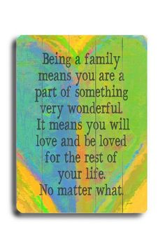 I think I have to buy this one....Being A Family Heart Wood Wall Plaque by ArteHouse on @HauteLook