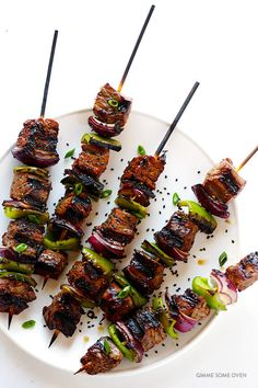 This Asian Pepper Steak Kabobs recipe is easy to make, perfect for grilling, and absolutely delicious!