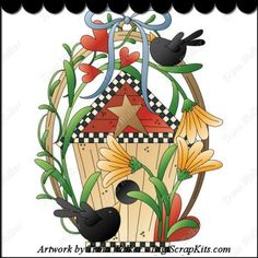 Crow Country 1 Clip Art Single
