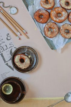 pumpkin and cream cheese donuts