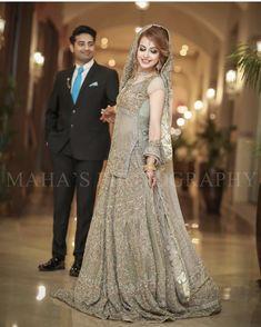 Walima Dress, Pakistani Wedding Dresses, Pakistani Dress Design, Indian Wedding Couple, Indian Bridal, Bridal Looks, Bridal Style, Bridal Photography, Party Gowns