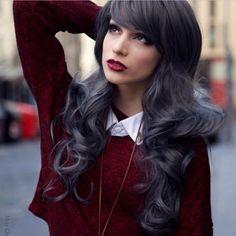 Resultado de imagen para charcoal hair