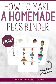 If you are looking to implement a simple visual schedule or communication system for your home, be sure to grab my free printables and check out this post on how to make a homemade PECS binder. Counseling Activities, Autism Activities, Autism Resources, Language Activities, Pecs Communication, Communication Pictures, Visual Schedule Autism, Visual Schedules, Activities For Autistic Children