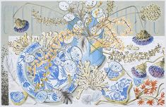 Honesty Blue - Angie Lewin Screen print Image size: x Edition size: 150 Commissioned by the V&A London. Angie Lewin, Silk Screen Printing, Gravure, Limited Edition Prints, Illustration Art, Book Illustrations, Art Prints, Block Prints, Nature Prints