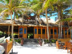 La Zebra, Tulum, Mexico-bar drinks with handcrafted locally grown sugar cane.