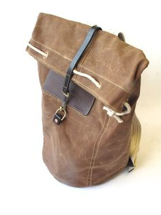 Waxed Cotton Backpack | Waxed Cotton Duffle BackPack.