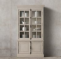 RH's French Casement Double-Door Sideboard & Hutch:Panel doors and fine crown molding give our solid wood collection the gravitas of classic French furniture.