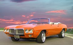 Pontiac Firebird convertible. 1969. Love all the old cars and trucks, would love to have all of them.