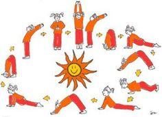 Sun Salutations, a yoga sequence, can offer vestibular sensory input if a swing is not available. Learn how to get your little yogi& moving. Yoga For Kids, Exercise For Kids, Gross Motor Activities, Activities For Kids, Yoga Sequences, Yoga Poses, Yoga Salutation Au Soleil, Preschool Yoga, Childrens Yoga