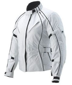 TNTBikes Ladies Motorcycle Cordura Jacket 100% w/proof Size 10:This is a beautifull jacket for ladies in White with Black piping all around RRP over £100.00  Made with High Quality 600D  2 zipper Air Vent on the Front  Complete CE Approved Armour Back,Elbow & shoulder  Original YKK Zippers zip & velcro Strap on Cuffs  Fleece inside Collar all Seams Sealed  100% Water proof Lining   £57.00