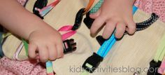 Homemade toys don't have to be fancy. For young toddlers, sometimes the simpler the toy, the better the play. This DIY buckle, clipping toy kept my toddler entertained for hours! I was inspired Diy For Kids, Cool Kids, Activities For One Year Olds, Toddler Play, Toddler Crafts, Kids Crafts, Infant Activities, Sensory Activities, Travel Activities