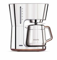 This is the prettiest coffee maker ever created by humans...Krups Silver Art Collection Thermal Carafe Coffee Maker