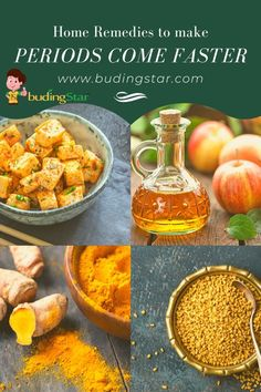 A perfect combination of a healthy diet is the key to regular menstrual cycle. We have curated the list of best home remedies to make periods come faster. Vitamin C Rich Fruits, Home Remedies, Natural Remedies, Irregular Menstrual Cycle, Turmeric Milk, Ginger Tea, Recipe Please, Spicy Recipes, Balanced Diet