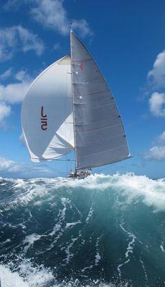 Wallpaper of boat & yacht sailing at the ocean and sea Big Waves, Ocean Waves, Yacht Boat, Sail Away, Set Sail, Am Meer, Tall Ships, Water Crafts, Belle Photo