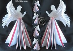 SVG File Template 3D Angel Table decoration