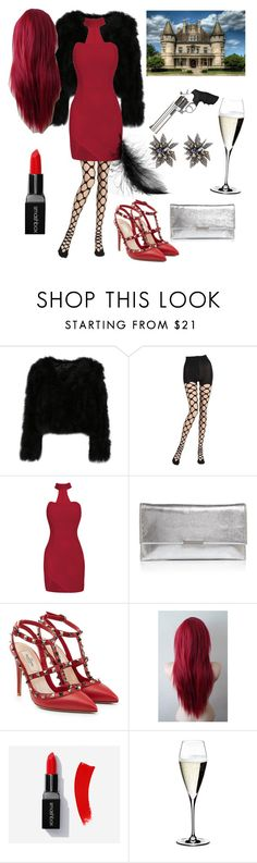 """""""Mansion Assassin"""" by minaaa-coe ❤ liked on Polyvore featuring Emilio Cavallini, Loeffler Randall, Valentino, Riedel and Alexis Bittar"""