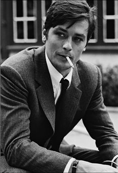 "Alain Delon, actor (1935 - ) on the set of ""Le Samourai"" Directed by Jean-Pierre Melville, 1967"