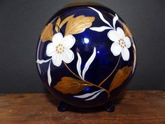 Your place to buy and sell all things handmade Rose Bowl, Czech Glass, Cobalt Blue, Vintage Art, Glass Art, Bohemian, Hand Painted, Vase, Shapes