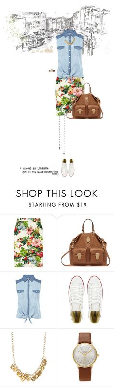"""""""Port to Port"""" by ndilettante ❤ liked on Polyvore featuring Dolce&Gabbana, Mulberry, Oasis, Converse, Alice Menter, Junghans, Summer, dolceandgabbana and CasualChic"""