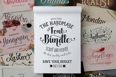 Announcing bundle of Fonts !!! This bundle is a once off opportunity to get a huge amount of best selling products and will only be available for a limited time, so hurry - don't miss out!