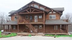 Brand New log cabin with golf course on one side and the lake on the other!