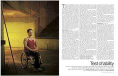 "Simon Norfolk photographs ""Test of ability"" for Telegraph Magazine"
