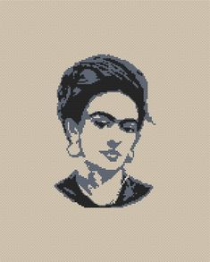 Frida cross stitch pattern Modern embroidery Frida Kahlo cross