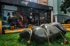 """Петрозаводск. """"Камень, который не взлетит"""" Материал: гранит весом более 2 тонн. Stone sculpture"""