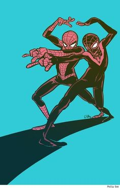 Peter Parker and Miles Morales by Polly Guo